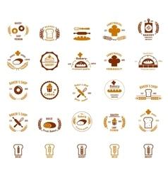 bakery logos set vector image vector image