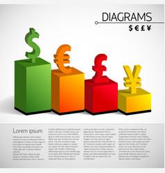 Business bar chart template vector