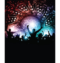 Party background with mirror ball vector image vector image
