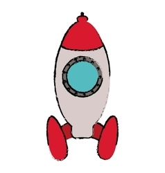 Rocket startup launching sketch vector