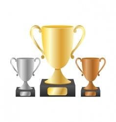 trophy cups vector image