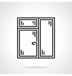Window with window leaf line icon vector image vector image
