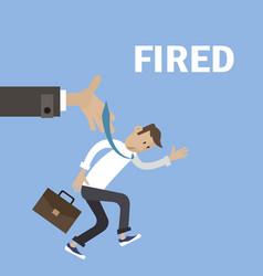 boss fired employee vector image vector image