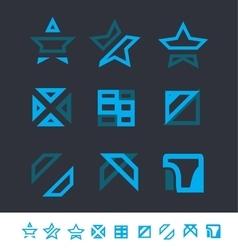 Geometric logo elements icon set vector image vector image
