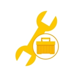 plastic tool box wrench icon vector image