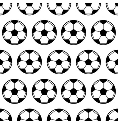 Soccer ball black and white seamless pattern vector image vector image