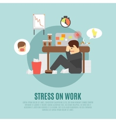 Stress on work flat icon vector image