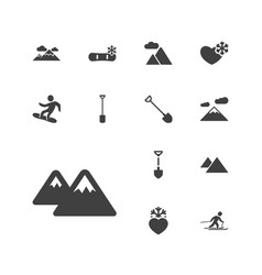13 snow icons vector