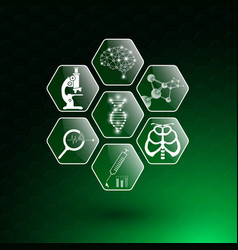 Abstract background technology concept and icon vector