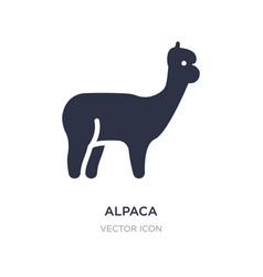 Alpaca icon on white background simple element vector