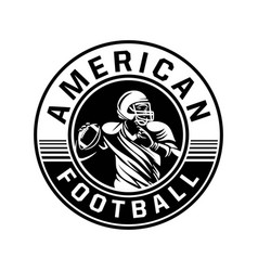American football sign logo black and white vector