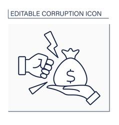 Anti bribery line icon vector