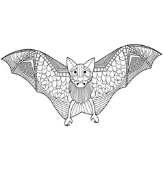 Bat coloring book for adults vector