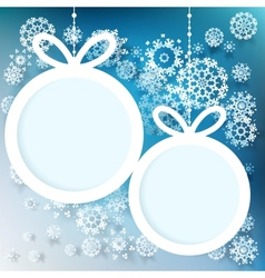 Blue and white winter with snowflakes EPS 10 vector image