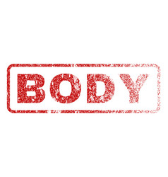Body rubber stamp vector