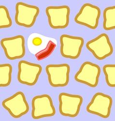 Breakfast seamless texture vector