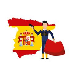 bullfighting classic icon of spanish culture vector image
