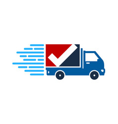 check delivery logo icon design vector image