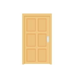 Closed wooden door icon cartoon style vector image  sc 1 st  VectorStock : cartoon door - pezcame.com