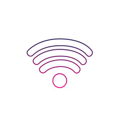 Color line wifi symbol of digital internet vector