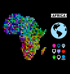 Colored dot africa map vector
