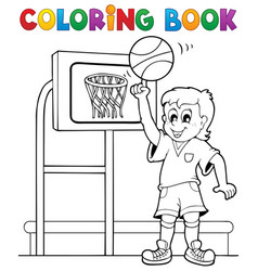 coloring book sport and gym theme 3 vector image
