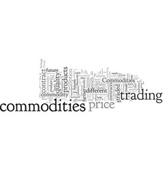 Commodities an overview vector