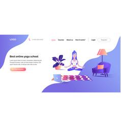 concept web page template online yoga school vector image