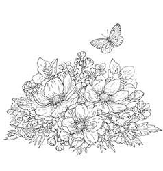 doodle bouquet vector image
