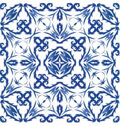 Ethnic ornament in decorative pattern ceramic tile vector