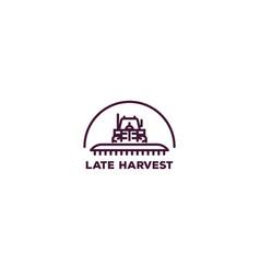 farm tractor logo vector image