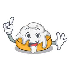 Finger cinnamon roll mascot cartoon vector