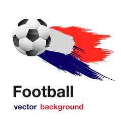 football flying soccer ball white background vector image