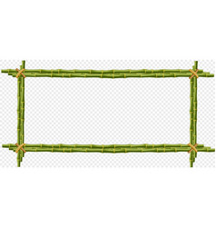 green bamboo steam frame isolated on transparent vector image