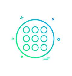 Grid list icon design vector