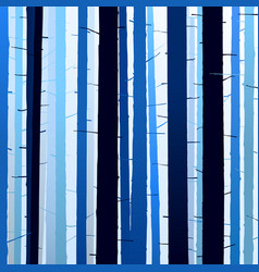 group silhouettes trees blue dark light vector image