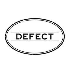 Grunge black defect word oval rubber seal stamp vector