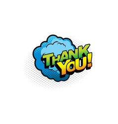 halftone cloud thank you speech bubble isolated vector image