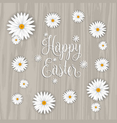 happy easter flower background vector image