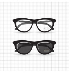 hipster isolated glasses vector image