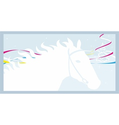 Horse and winter vector image