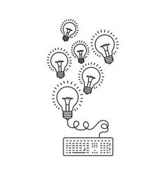 Isolated big idea draw design vector