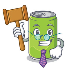 judge soft drink character cartoon vector image