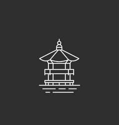 korea landmark in outline style vector image