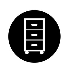 Laundry drawer isolated icon vector
