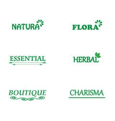 Logos your company name vector