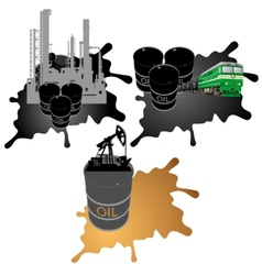 Mining processing and transportation of oil vector image vector image