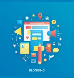 modern flat gradient blogging blogger vector image