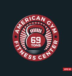 Modern professional logo emblem fitness gym vector