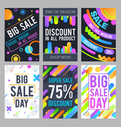 modern sale banners in material design style with vector image